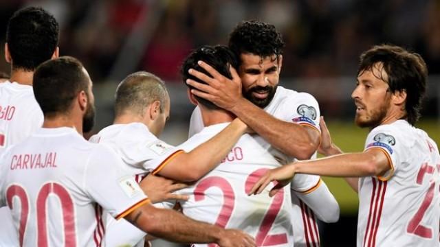 Hiszpania wygrywa z Macedonią