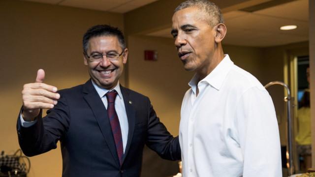 Spotkanie Bartomeu z Obamą