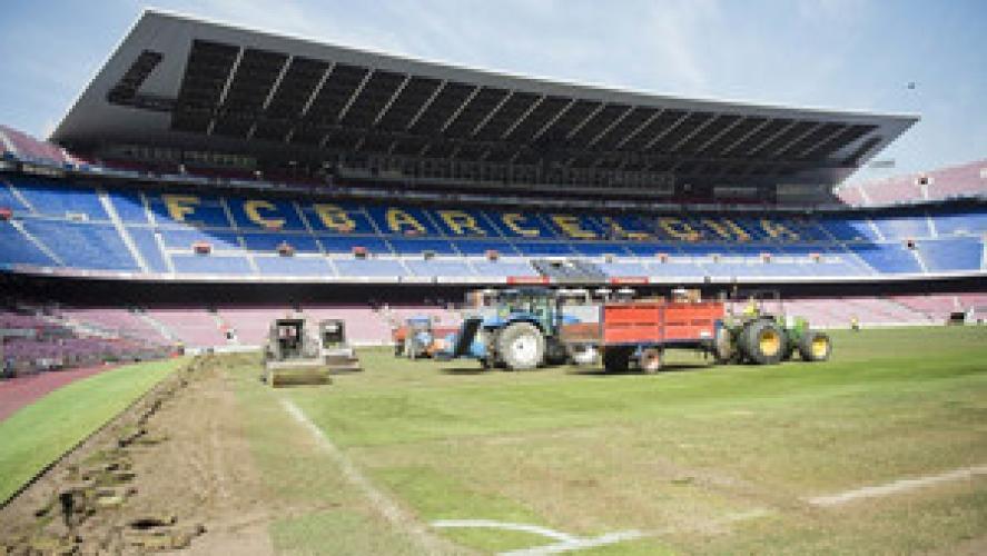 Trwa wymiana murawy na stadionie