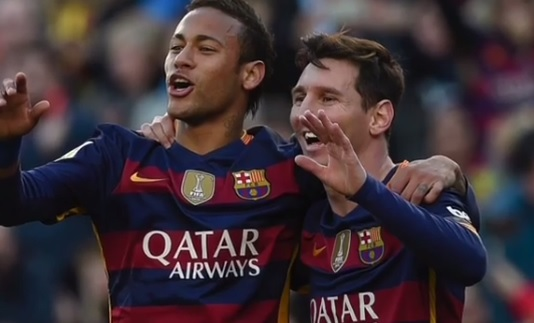 Messi żegna Neymara