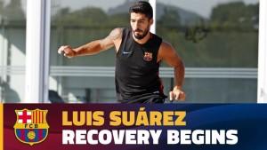 Wideo: Suarez wznawia treningi
