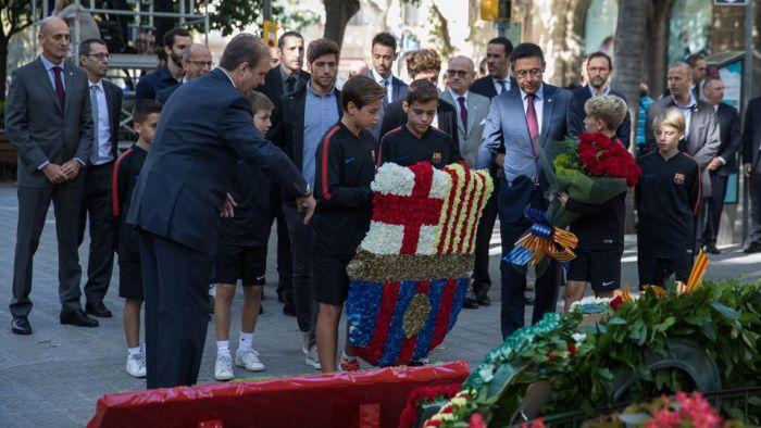 Barca uczestniczyła w obchodach święta Katalonii