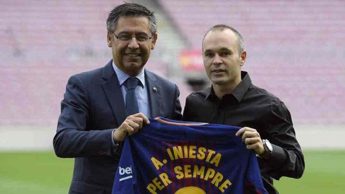 Oficjalnie: Iniesta do końca życia w Barcelonie !