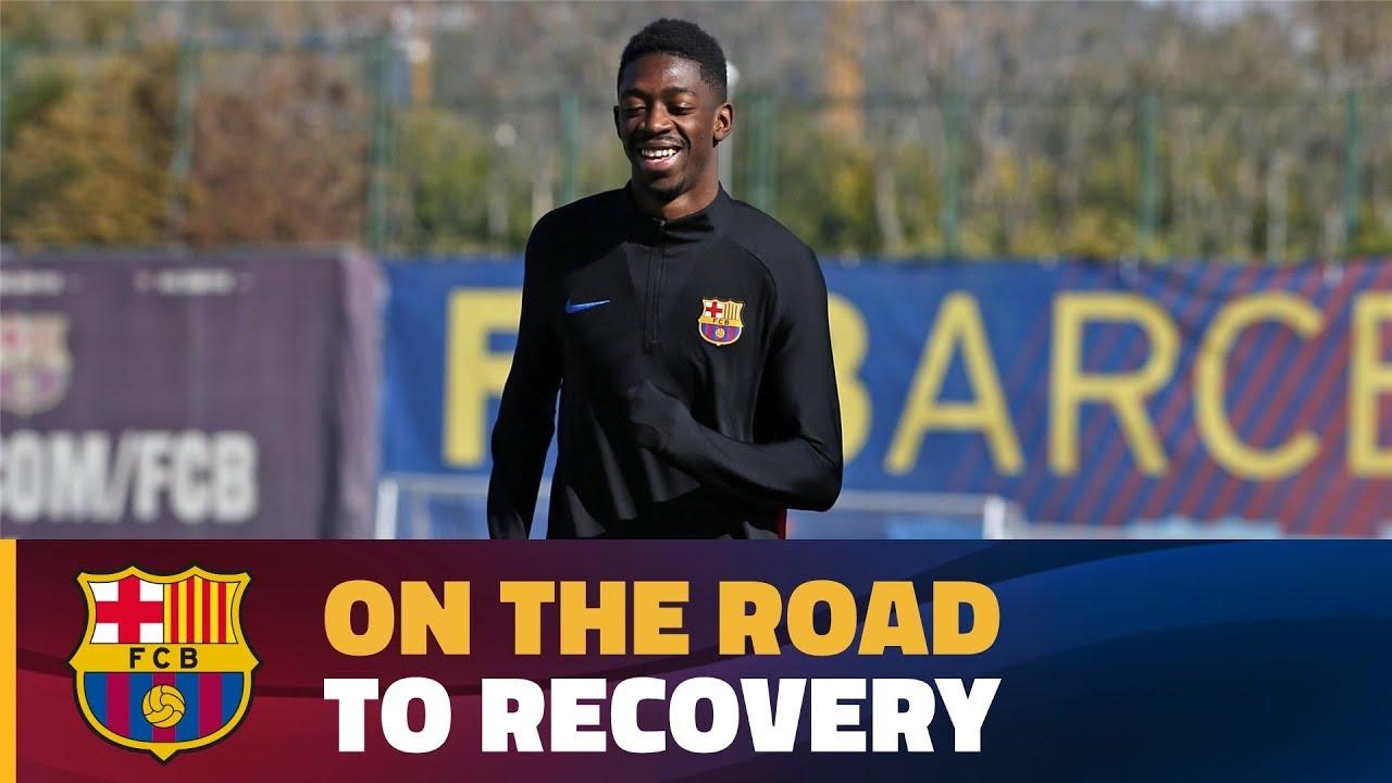 Wideo: Dembele zaczyna lekkie treningi