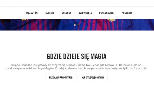 Nike przypadkiem ujawnia transfer Coutinho