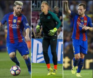 Messi, ter Stegen i Rakitić niezastąpieni