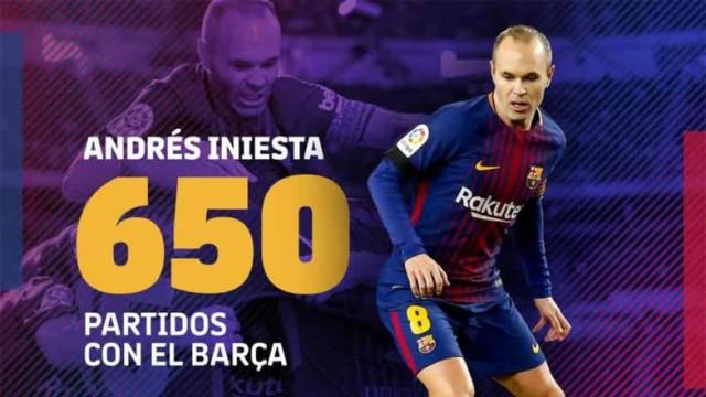 650 meczów Iniesty