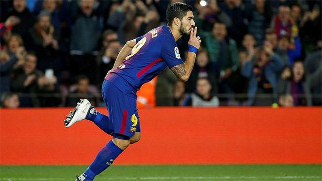 Ósmy mecz z rzędu z golem Suareza