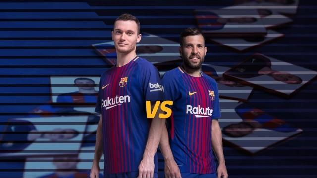BARÇA MEMORY: Jordi Alba vs Thomas Vermaelen