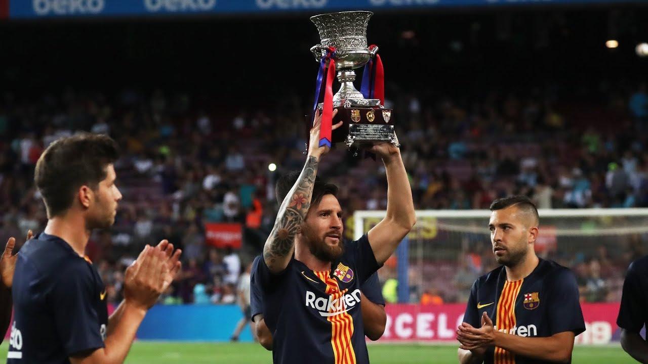 Messi prezentuje Superpuchar